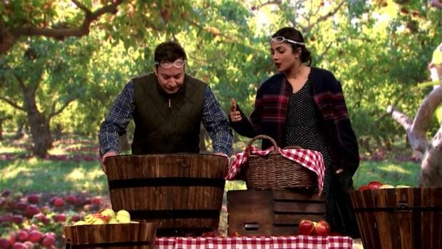 'Tonight Show': Bobbing for Apples With Priyanka Chopra