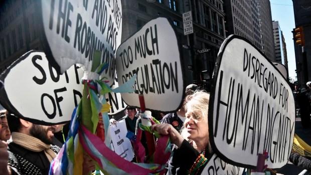 [AP] Raw Video: Occupy Protestors Mark Second Anniversary