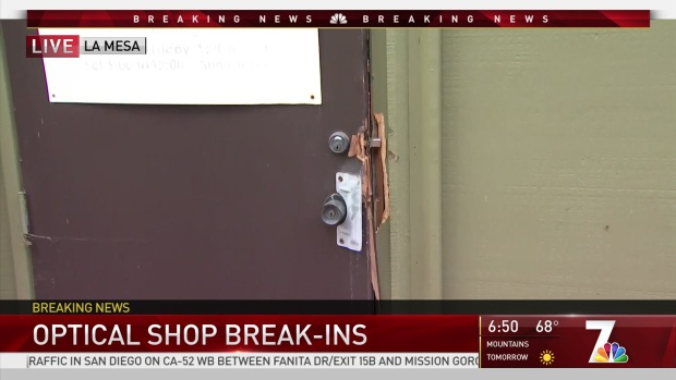 3 Break-ins Reported at Optometry Stores Overnight