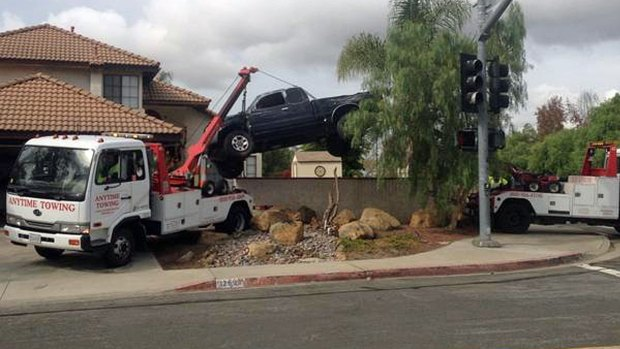 Images: Pickup Truck Crashes Into Rancho Penasquitos Home