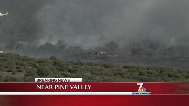 [DGO] Brush Fire Spreads Near Pine Valley