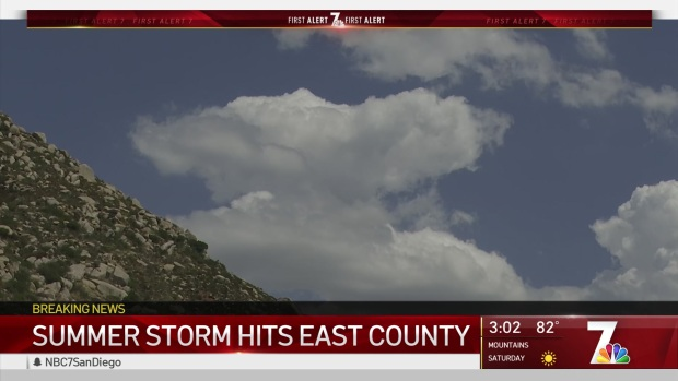 Summer Storm Hits East County