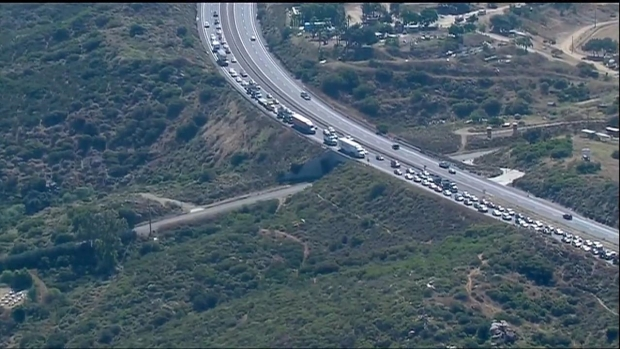 [DGO] Miles of Traffic in Poway After Fatal Crash