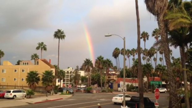 Rainbow Over La Jolla