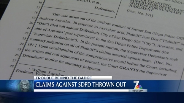 [DGO] Claims Against SDPD Arevalos Supervisors Thrown Out