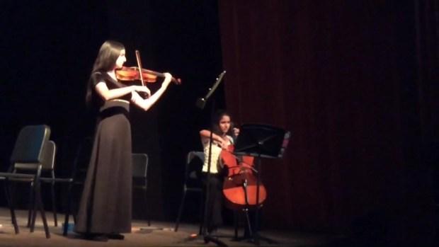 Sana Moezzi Playing the Violin