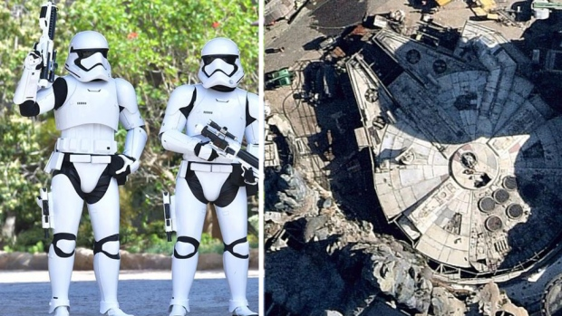 Star Wars Land From Above: See How Construction Took Shape at Galaxy's Edge