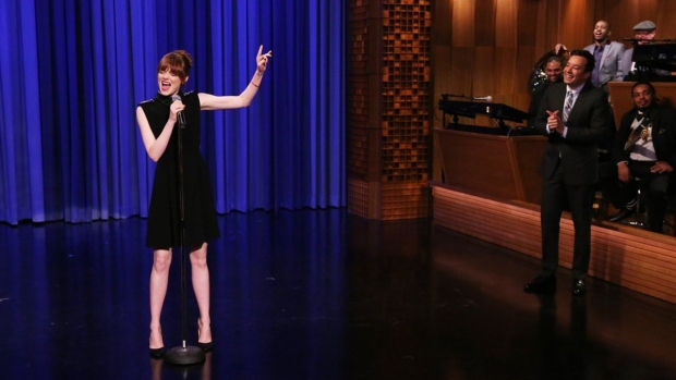 Watch: Emma Stone and Jimmy Fallon Lip Sync Battle