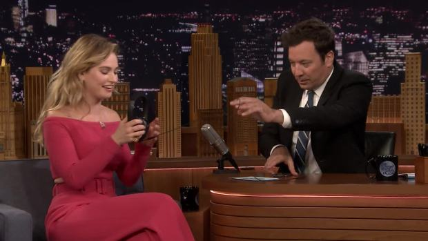 [NATL] 'Tonight': Singing Whisper Challenge With Lily James
