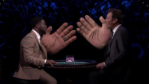 [NATL] 'Tonight': Slapjack Rematch With Kevin Hart