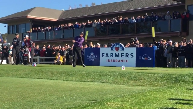Phil Mickelson Tees Off at Farmers Insurance Open