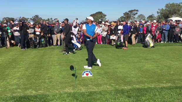 Tiger Woods Takes First Tee at Tourney