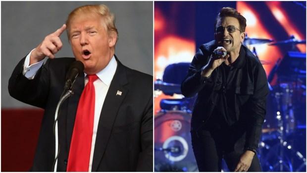 Bono Slams Trump at Bay Area Benefit Concert