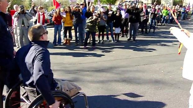 Veteran Recieving Adaptive Home Cheered on by Community