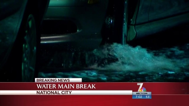 [DGO] Water Main Break Floods Streets, Apt. Complex in Southbay