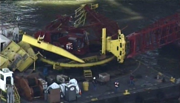 Crane Collapse on New Bay Bridge Span