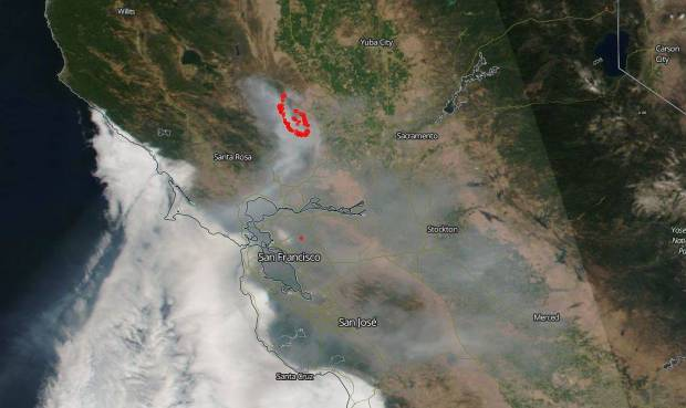 [NATL-LA GALLERY UPDATED 4/17] Smoke and Fire From Space: Wildfire Images From NASA Satellites