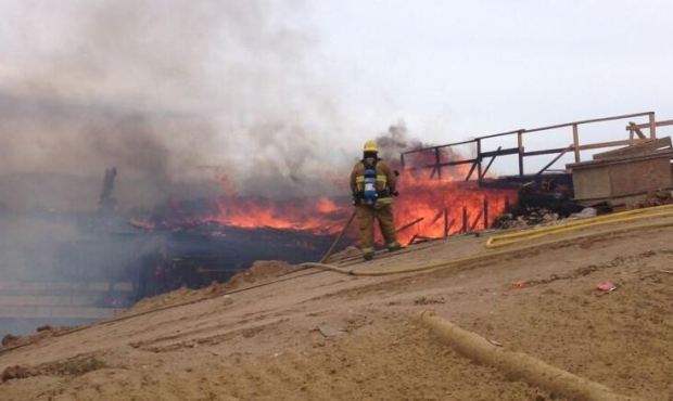 Fire Rips Through Bridge Over 15 Freeway