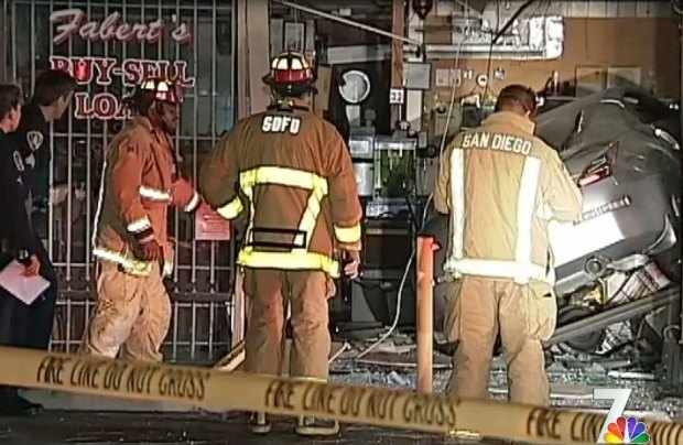 Car Crashes Into Fabert's Pawn Shop: Images