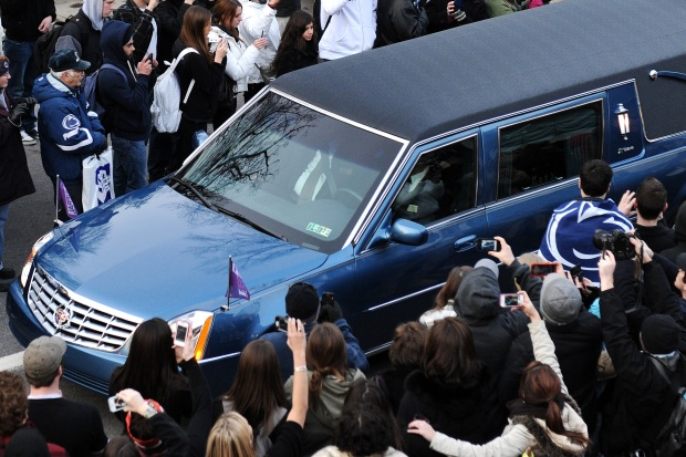 Joe Paterno Funeral and Procession