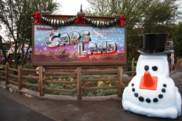 Cars Land Gets the Disney Holiday Treatment