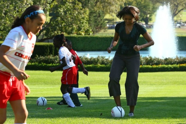 First Lady Hosts Soccer Clinic at White House