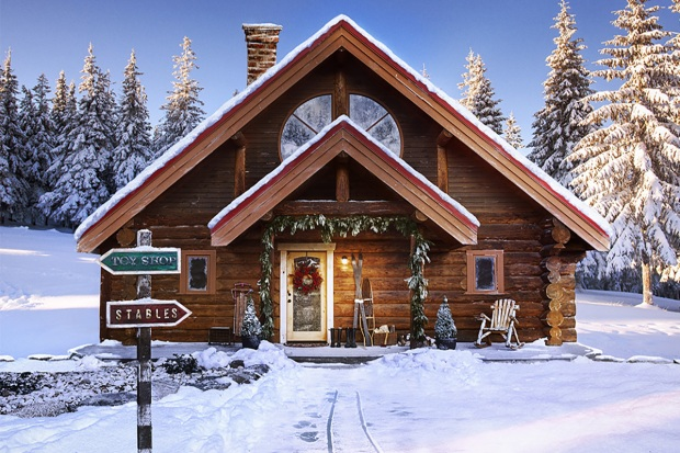 [NATL]Cozy Christmas Cabin: Santa's North Pole Home Listed on Zillow