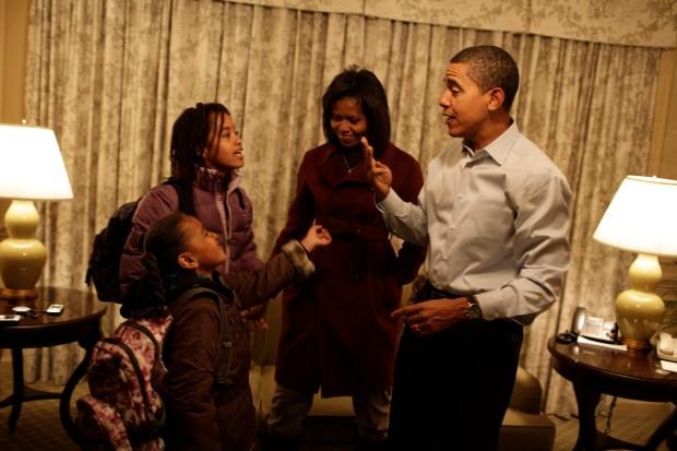 Obama Children Head to School