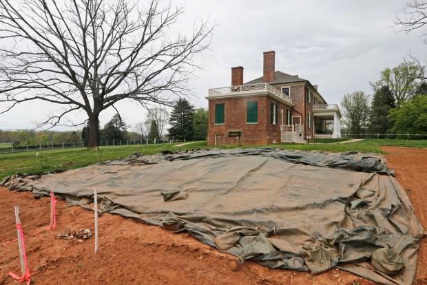 Slave Quarters Rebuilt at Madison's Montpelier