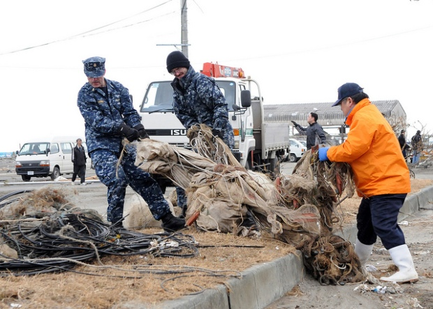 Local Troops Deliver Aid to Japan