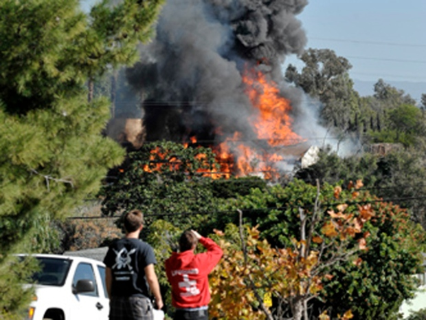 Images: House Packed With Explosives Torched