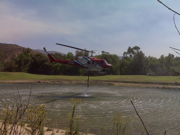 Images: Spring Valley Brush Fire