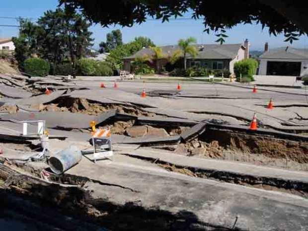 Images: La Jolla Landslide