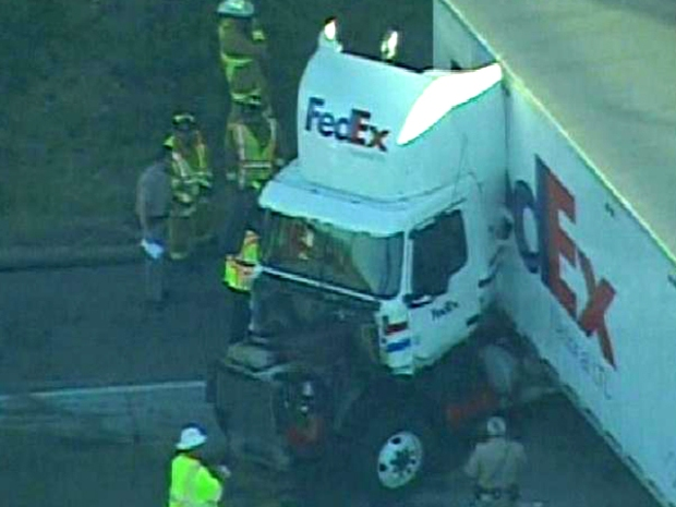 Images: Semi Crash, Fuel Spill Snarls Traffic