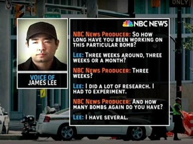 [DC] Discovery Barricade Suspect Tells NBC He's Got Bombs
