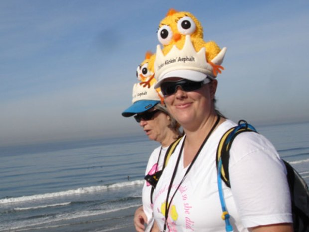 Hats, Shirts, Boas Motivate 3-Day Walkers