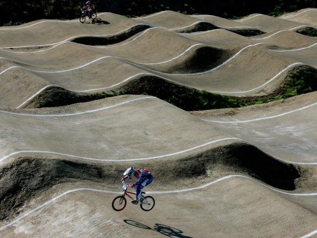 BMX Supercross Stars in Chula Vista