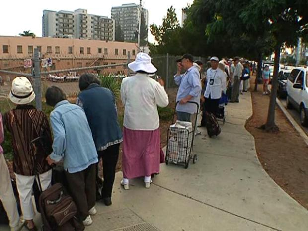 San Diegans Wait in Bread Lines