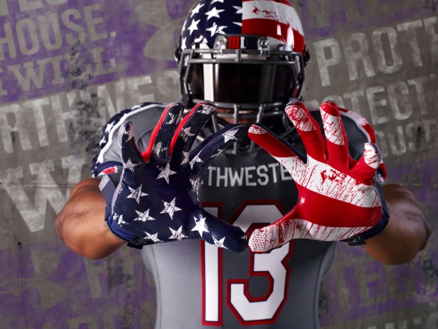 "Northwestern Unveils ""Wounded Warrior"" Uniforms"