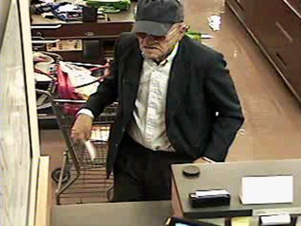 Elderly Bandit Strikes Again