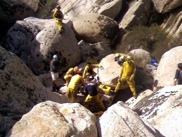 Sick Hiker Rescued from Canyon