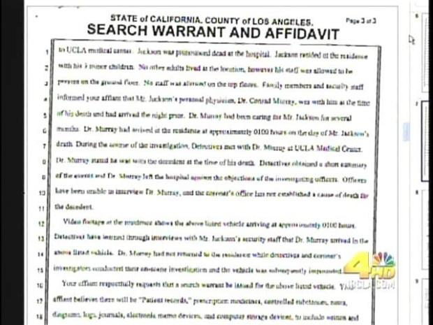 [LA] Jackson Warrants Unsealed