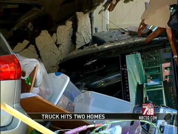 [DGO] Pickup Plows into Homes in Coincidence Crash