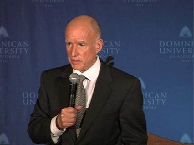 [BAY] Raw Video: Jerry Brown in the Spin Room