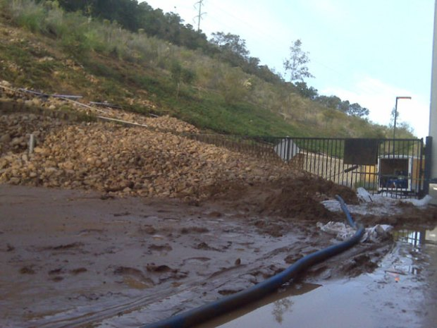 Damaged Hydrant Causes Mudslide