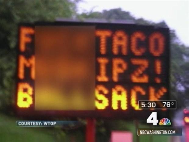 [DC] Construction Signs Send Obscene Messages