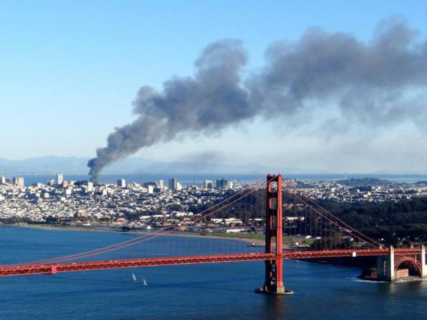 Crews Battle Building Fire Near AT&T Park