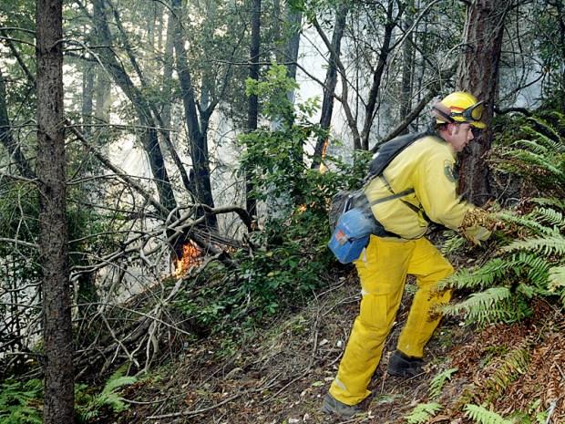 Wildfire Burns Near Boony Doon
