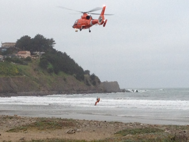 [BAY] Coast Guard Crews Help Pacifica Sailboat in Distress