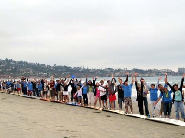 Standing in Solidarity at Survivor Beach